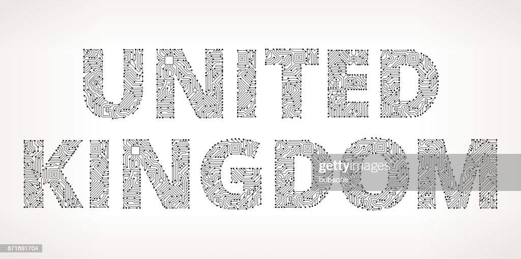 United Kingdom Circuit Board Vector Buttons Vector Art | Getty Images