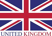 United Kingdom flag vector background in an abstract illustration design