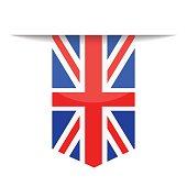 United Kingdom Flag Vector Bookmark Icon
