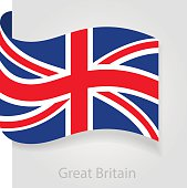 United Kingdom flag, vector illustration