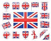 United Kingdom Flag Vector Set