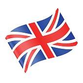 United Kingdom Flag Vector Waving Icon