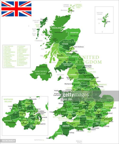 15 - United Kingdom - Green Isolated 10