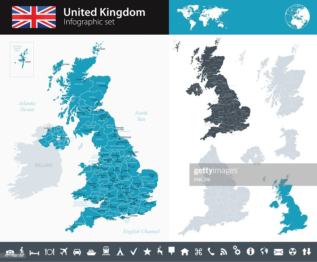 United Kingdom - Infographic map - illustration
