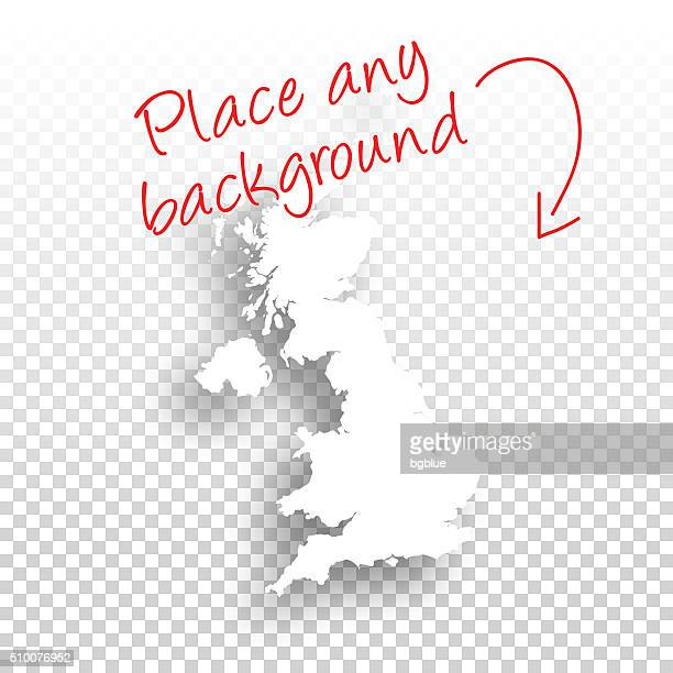 United Kingdom Map for design - Blank Background
