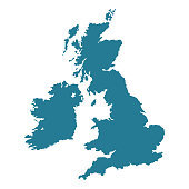 United Kingdom map shape.
