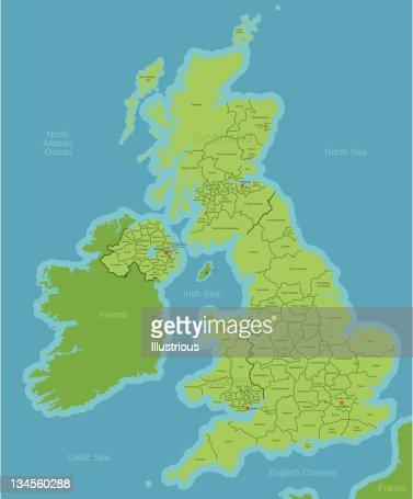 Map Of Uk Showing Counties.United Kingdom Map Showing Counties Stock Illustration Getty Images