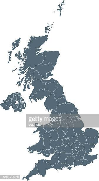 united kingdom map - birmingham uk stock illustrations