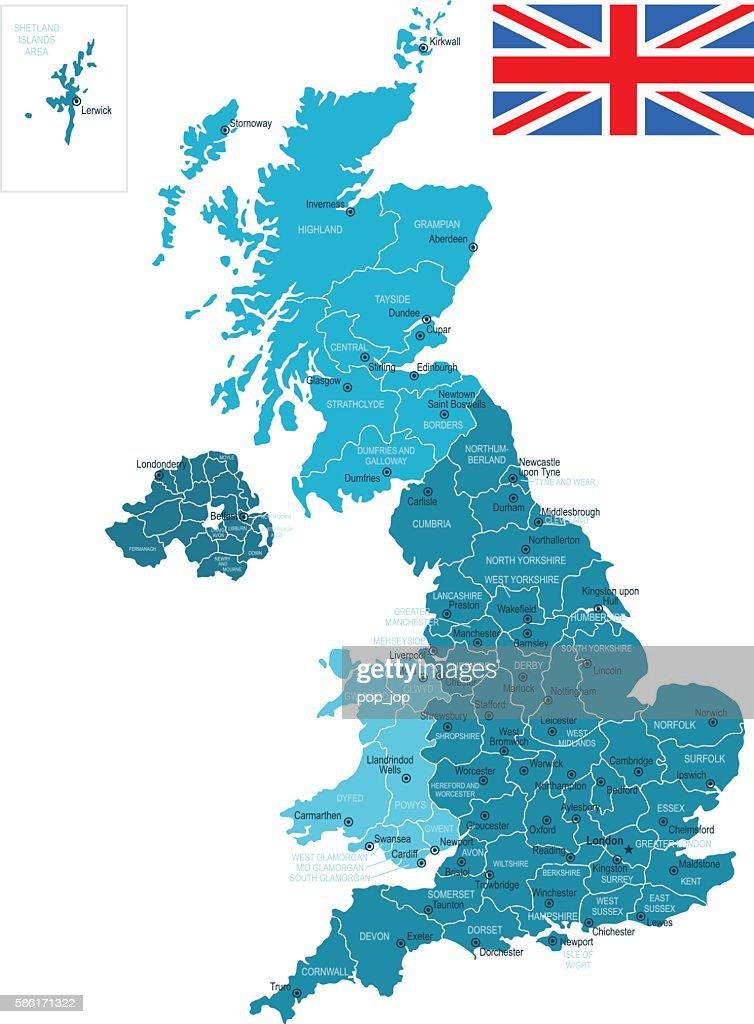 United Kingdom Map : stock illustration