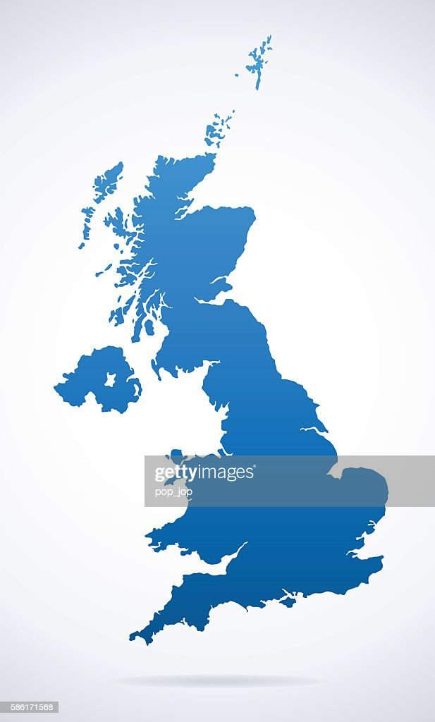 United Kingdom Map Vector Art Getty Images - United kingdom map vector
