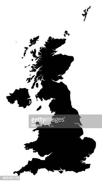 united kingdom map - cartography stock illustrations