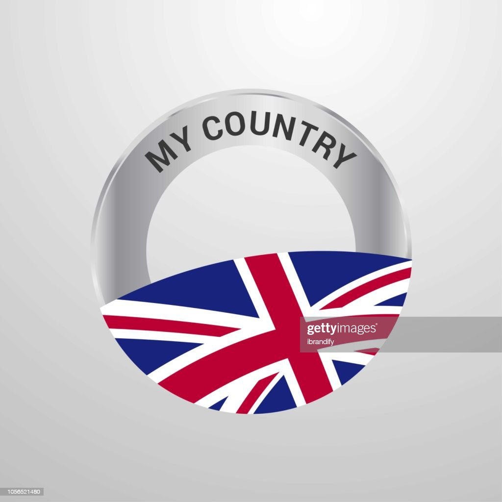 United Kingdom My Country Flag badge