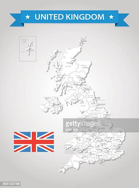United Kingdom - old-fashioned map - Illustration