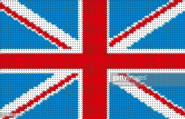 Großbritannien Pixelte Vector Flagge