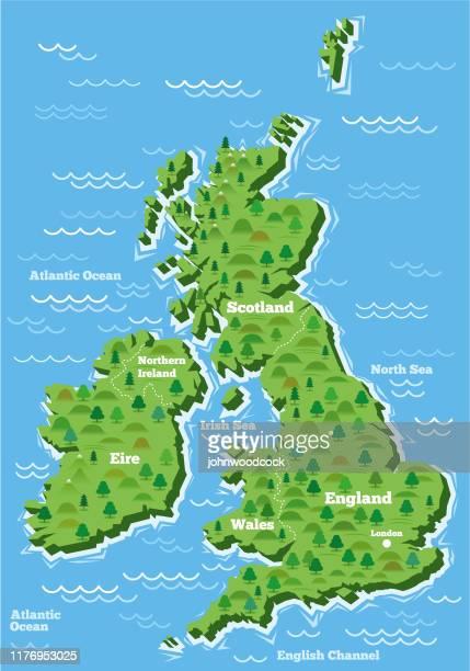 イギリスシンプルな大きな地図 - イギリス点のイラスト素材/クリップアート素材/マンガ素材/アイコン素材