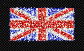 United Kingdom sparkling flag