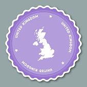 United Kingdom sticker flat design.