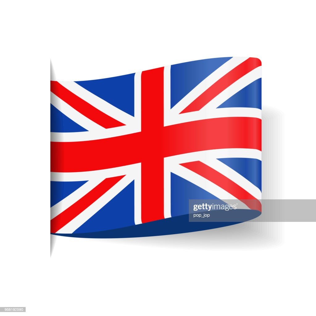 ba55232d0d75a United Kingdom - Tag Label Flag Vector Flat Icon   Vector Art