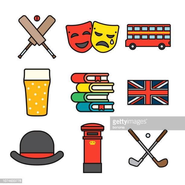 United Kingdom Thin Line Icon Set