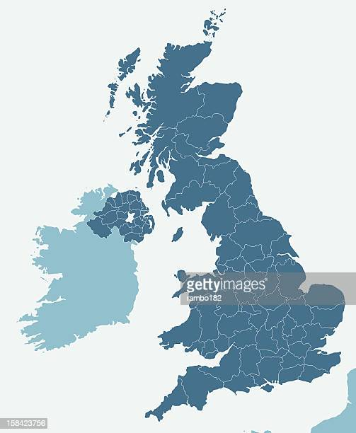 united kingdom - cartography stock illustrations