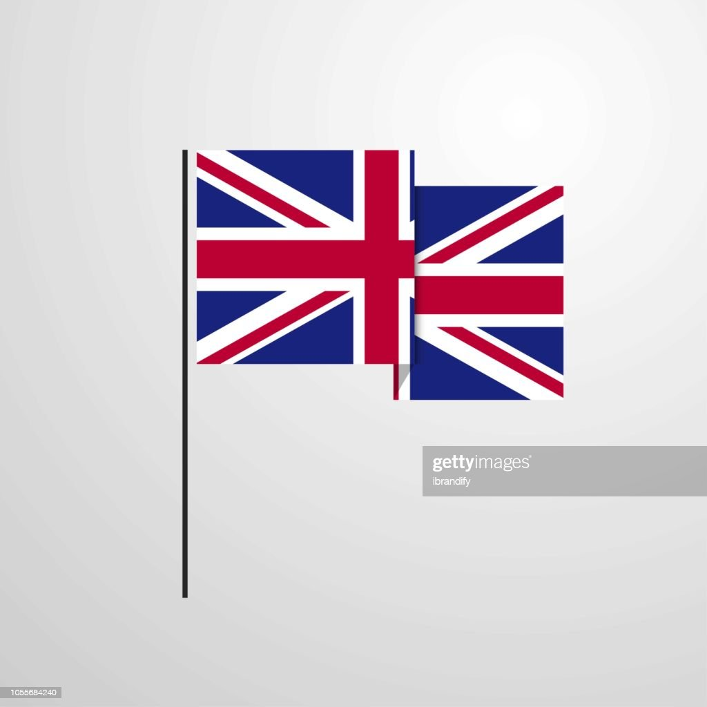 United Kingdom waving Flag design vector background