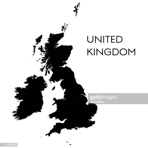 united kingdrom map - uk stock illustrations