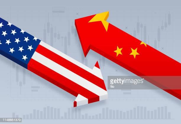 united states and china trade tariff dispute - tariff stock illustrations
