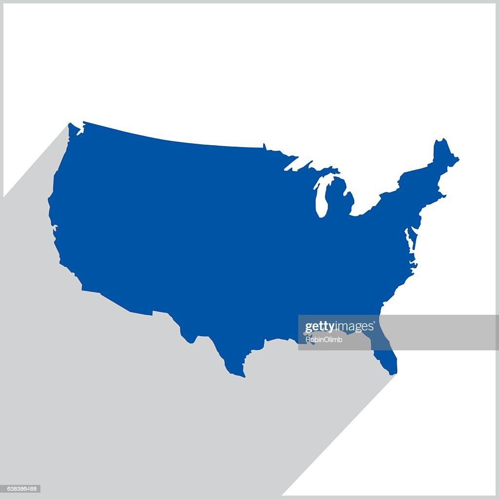United States Blue Map icon