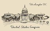United States Capital Hill Capitol Washington DC