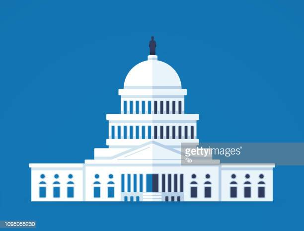 united states capitol building - capitol building washington dc stock illustrations
