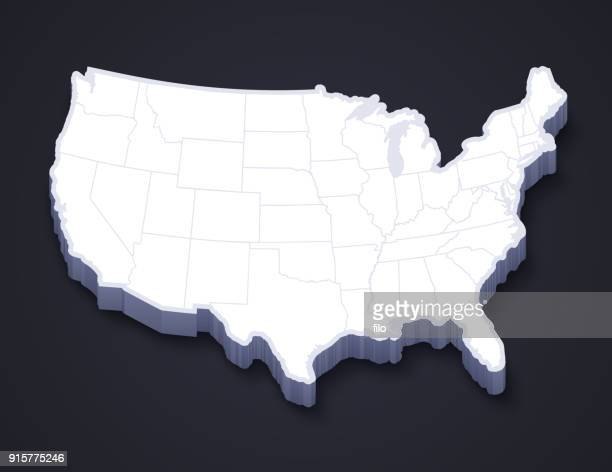 United States Continental 3D Map
