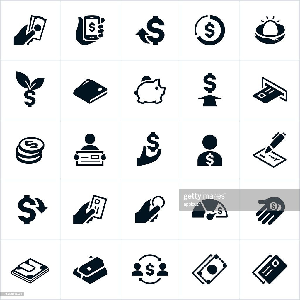 United States Currency and Money Icons