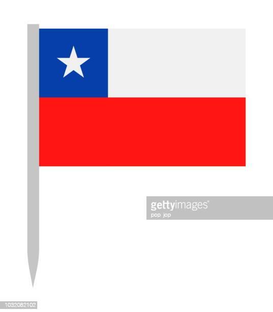 illustrazioni stock, clip art, cartoni animati e icone di tendenza di 10 - stati uniti - flag pin flat - bandiera del cile