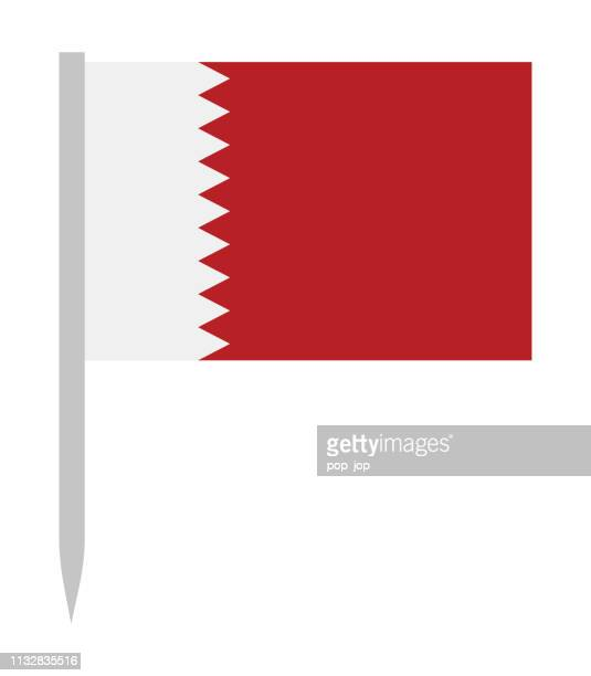 10 - united states - flag pin flat - qatar stock illustrations, clip art, cartoons, & icons