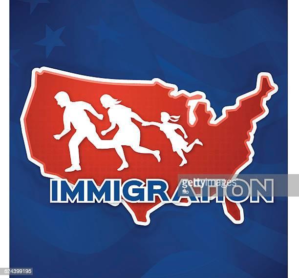 ilustrações, clipart, desenhos animados e ícones de imigração dos estados unidos - reforma assunto