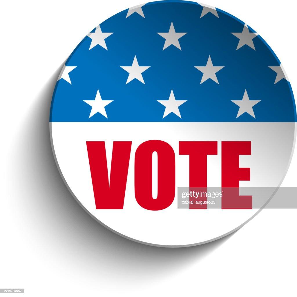 Botão Dia da Independência dos Estados Unidos : Arte vetorial