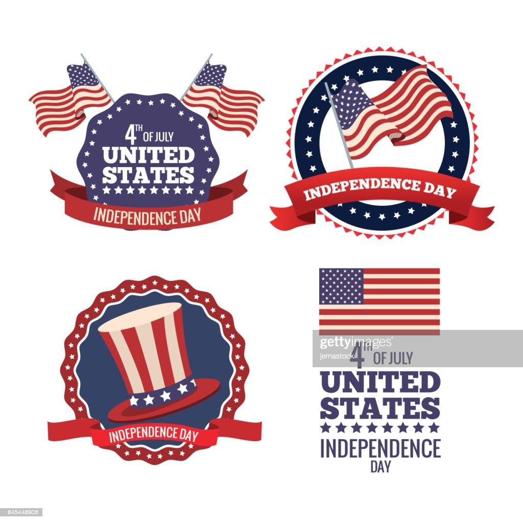 united states independence day labels collection