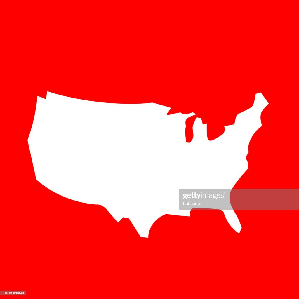United States Map Icon Vector Art | Getty Images