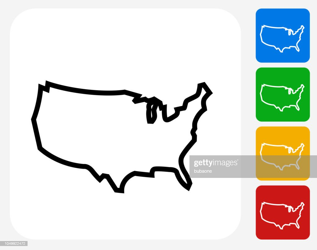 United States Map Icon Vector Art   Getty Images