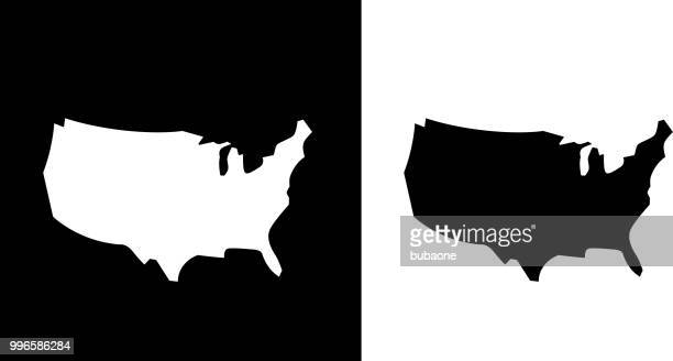 united states map icon - usa stock illustrations