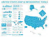 United States Map - Info Graphic Vector Illustration