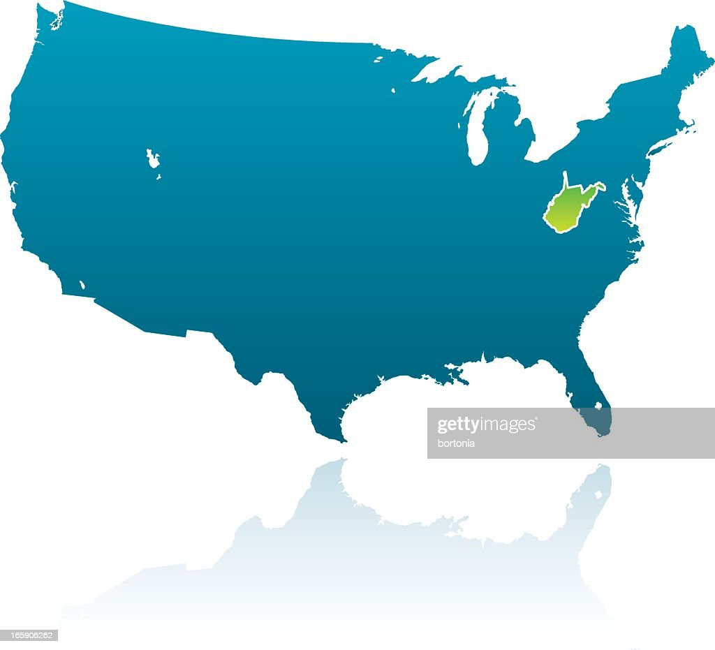 United States Maps West Virginia Vector Art | Getty Images