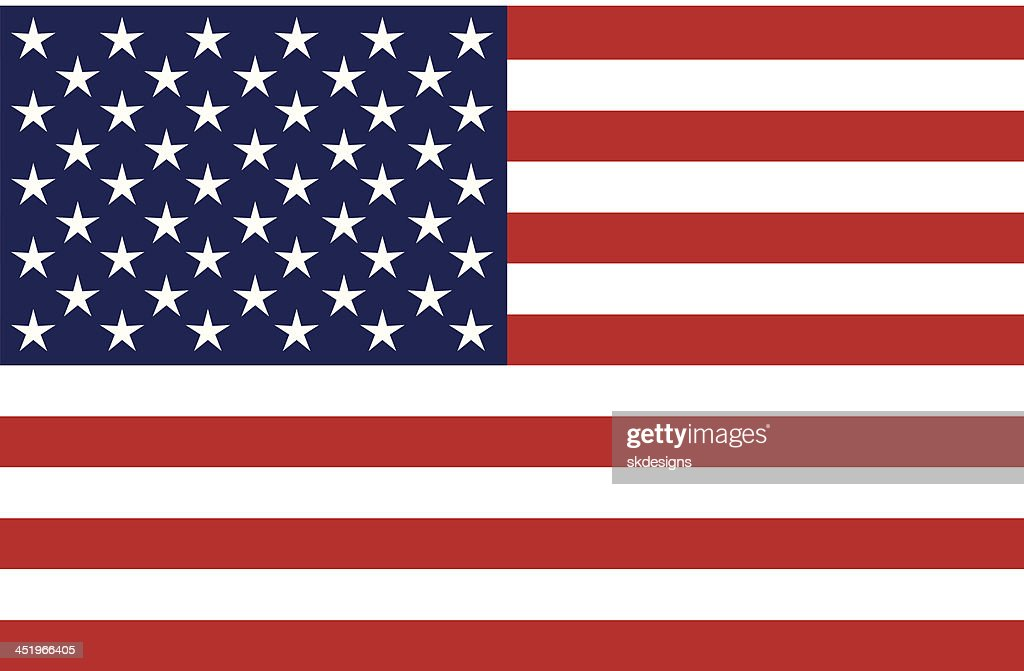 United States of America Flag, Isolated, Blank