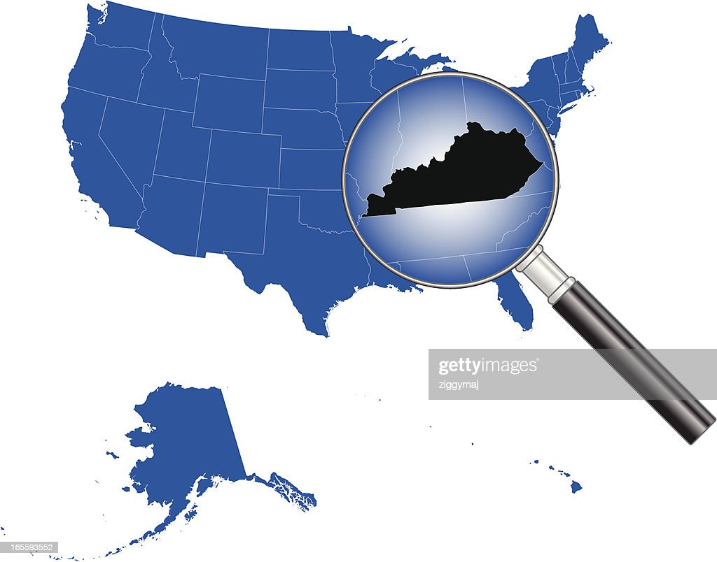 United States of America - Kentucky Map