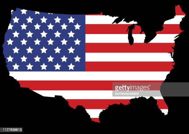 united states of america map - usa outline stock illustrations