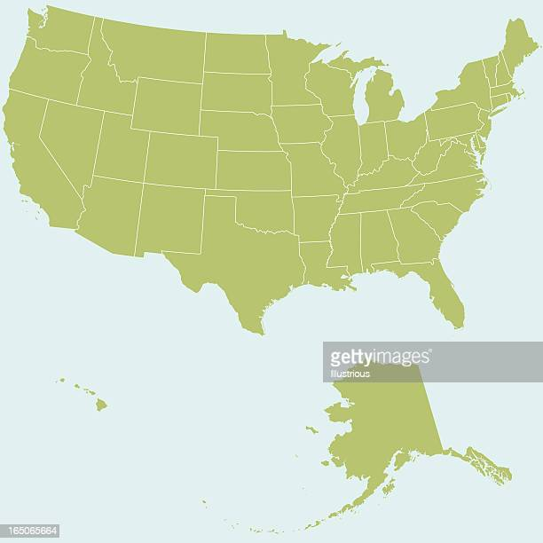 united states of america map - great lakes stock illustrations
