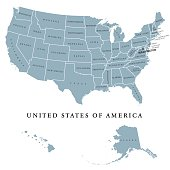 USA United States of America political map