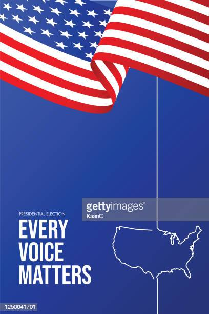 united states of america presidential election 2020. vector stock illustration - voting stock illustrations