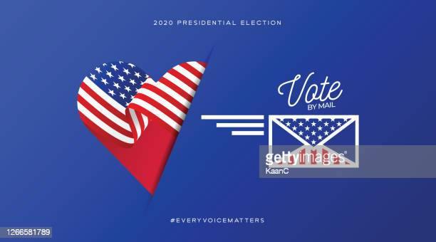 united states of america presidential election 2020. vote by mail. vector stock illustration - voting ballot stock illustrations