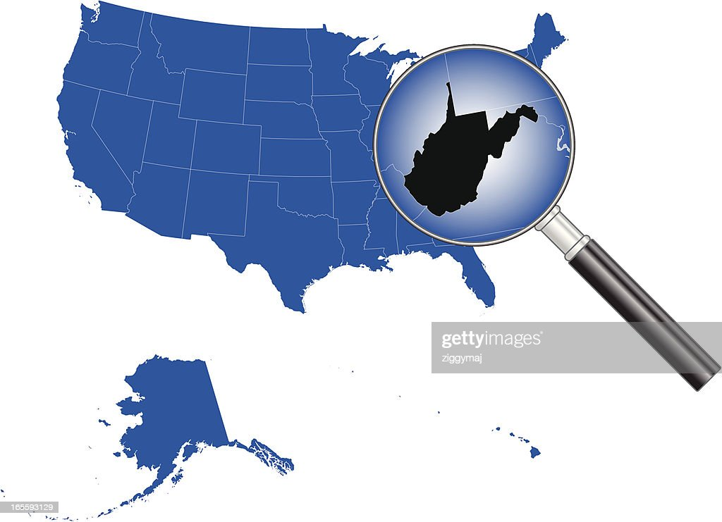 United States Of America West Virginia Map Vector Art Getty Images